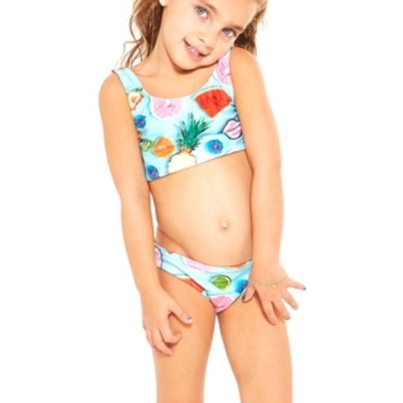 baa3738622 Zara Terez Swim | Tropical Fruit Sports Bra Bikini | Poshmark